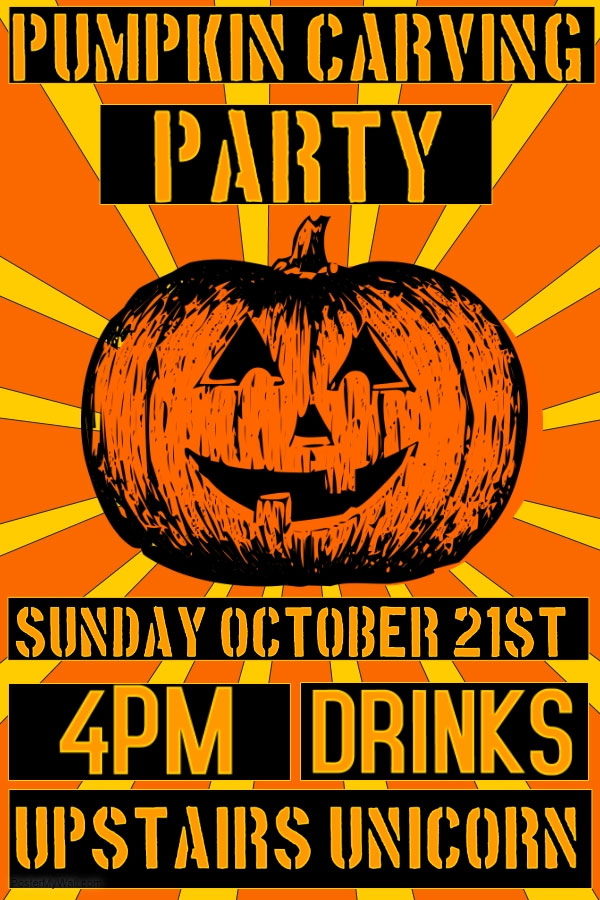 Pumpkin Carving party upstairs